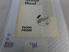 (402) Tektronix P6006 Probe Instruction Manual