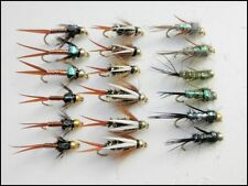 Goldhead Nymph Trout Flies, 18 Pack, Copper John, Evil Weevills & Prince, 10-14