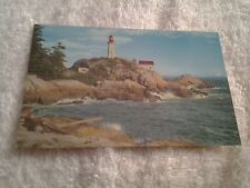Vintage postcard, POINT ATKINSON LIGHTHOUSE, WEST VANCOUVER, CANADA