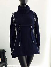 Maison Martin Margiela H&M HM Blue White Knit Deconstructed Sweater Dress M