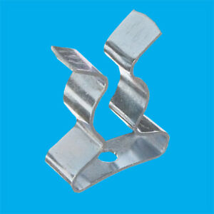 100x T2 T3 Terry Clips 8-9mm 1/4inch to 3/8inch Fluorescent Tube Spring Holders