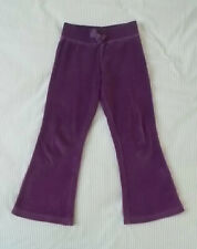 Girls velour pants, purple, size 4/5T