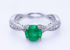 $8750 TACORI 18K 1.15ct No Oil Intense Green Colombian Emerald & 0.41ct Diamonds