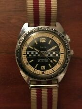 TIMEX HAU vintage Taucheruhr Diver Rally world time 70er, 70s, 28x45mm