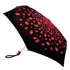 Lulu Guinness por Fulton Tiny 2 Paraguas-Raining Labios