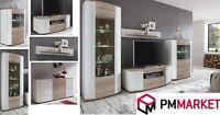 Living Room High Gloss Storage Furniture Tall Unit Modern TV Unit Cabinet CURVE