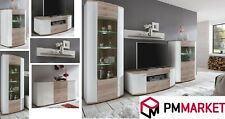 Living Room High Gloss Storage Furniture Tall Unit Modern TV Unit Cabinet CURVE