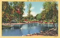 Postcard The Lagoon In Avondale Park Birmingham Alabama Posted 1940