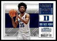 2018-19 PANINI CONTENDERS GAME DAY KINGS MARVIN BAGLEY III RC DUKE BLUE DEVILS