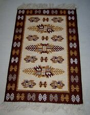 NEW BROWN AND BIEGE TURKISH RUG 90X60CMS