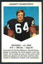 1971 CHEVRON TOUCHDOWN CARDS CFL FOOTBALL B C LIONS GARRETT HUNSPERGER MISSOURI