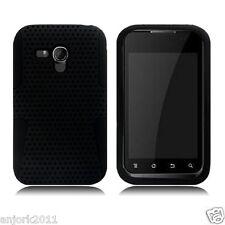 Samsung Galaxy Rush M830 BOOST MESH HYBRID HARD CASE SKIN COVER BLACK