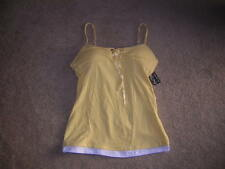One Step Up Fitness Exercise TOP Shirt Women's Size Large Yellow New/NWT