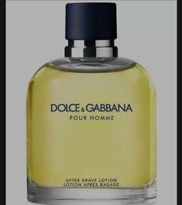 Dolce & Gabbana Pour Homme After Shave Lotion 4.2 Oz NIB