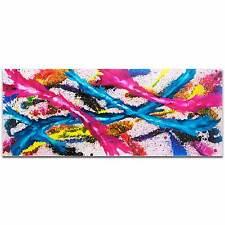 Mendo Vasilevski 'Color Splash' Contemporary Acrylic Wall Art Giclee