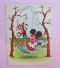Goofy and Mickey in the Yard  Vtg Postcard 1965 Disney Ex Yu