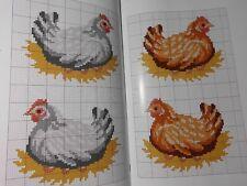 Magazin,Creation Point de Croix °81,Veronique Enginger,Frühling,Hühnerhäuser,Dmc