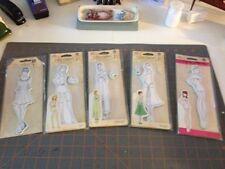 JULIE NUTTING Rubber Stamps RUBY JEANNE JILL MARISOL PEASANT Girls Doll SET of 5
