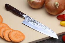 VG10 Hammered Damascus Santoku 18cm Japanese Handmade Chef Knife YOSHIHIRO
