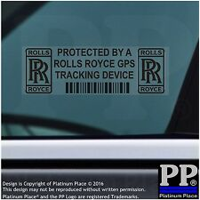 5 x Rolls Royce GPS Tracking Device Security BLACK Stickers-,Car Alarm Tracker