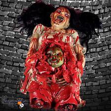 Halloween Sangriento Horror Mujer embarazada cadáver Zombie Bebé Piso Decoración Utilería BN
