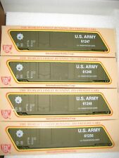 HO IHC US ARMY BOX CAR IN OLIVE DRAB 4  - 50 FT. BOX CAR  OF SET #  5