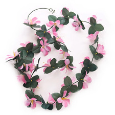 2 x mts Pink Artificial Flower Garland Frangipani Wedding Home Decor