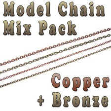 Hobby Modelo Cadena Mix Pack - 3 Mm x 2 mm & 2 Mm x 1.5 Mm-Cobre Y Bronce Colores