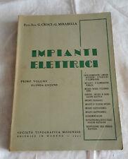 INGEGNERIA-IMPIANTI ELETTRICI-SOCIETA' TIPOGRAFICA MODENESE-ANNO 1945
