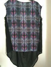 FIRETRAP (BLACKSEAL) LADIES TOP, LONGER AT BACK , CUT OUT IN BACK, SIZE 14/16