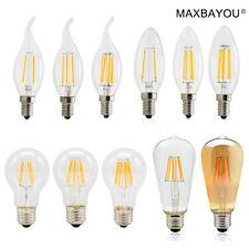 Vintage Dimmable E14 E27 2W 4W 6W 8W LED Edison Filament Candle Light Globe Bulb