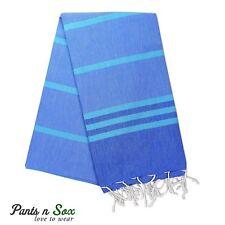 New Cotton Turkish Towel Beach Blue Stripe Carob Picnic Blanket