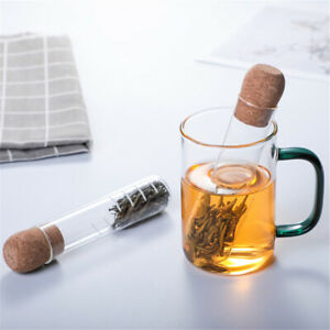 Glass Tube Tea Strainer Filter Infuser Herb Strainer Pipe Tea Infusing Tool