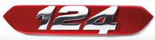 Fiat 124 Araña con logotipo en la parte delantera de la rejilla rojo' 124' Insignia Nuevo Genuino 71808417