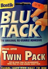 Bostik Special Offer TWIN PACK 110g Blu Tack Sticky Blue Fast Same Day Dispatch