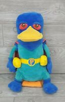 "Perry the Platypus AGENT P Disney Store Phineas & Ferb Large 15"" Stuffed Plush"