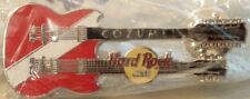 Hard Rock Cafe COZUMEL 2000 Diver Down FLAG GUITAR PIN Silver HRC Catalog #12303
