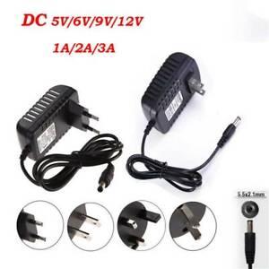 DC 5/6/9/12V 1/2/3A AC 100-245V Adapter Charger Power Supply for LED Strip Light