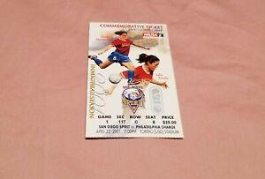 2001 WUSA San Diego Spirit Womens Soccer Inaugural Season Used Ticket Stub