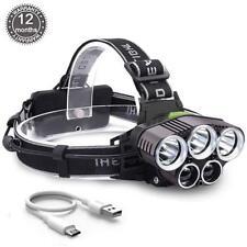 90000LM 5X XM-L T6 LED Headlamp Rechargeable Headlight Flashlight Head Torch