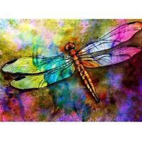 5D Full Drill Diamond Painting Dragonfly Cross Stitch Kits Home Decor Art Gift
