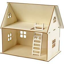 Plywood Self Assemble Doll House Construction Kit 25cm x 18cm x 17cm Kids Crafts