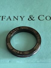 Tiffany & Co Midnight Black Titanium 1837 Open Circle Pendant RARE