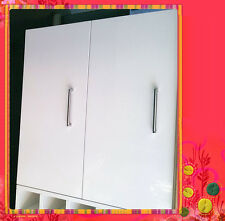 Flat Pack Kitchens High Gloss White Kitchen Wall Cabinet 2 Doors 800