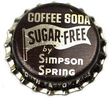 Vintage Simpson Spring Coffee Soda Kronkorken USA Bottle Cap Korkdichtung