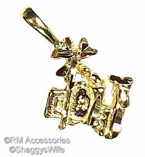 Leprechaun with Clover Charm / Pendant  EP Gold Plated with a Lifetime Guarantee