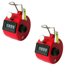 2 x RED HAND TALLY 4 DIGIT HEAD COUNTER CLICKER