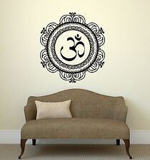 Wall Decal Mandala Yoga Om Sanskrit Talisman Vinyl Stickers (ig2927)