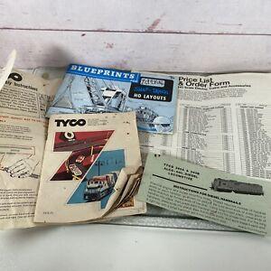 Vintage 1974-75 Tyco Catalog Atlas HO Scale  Blueprints Order Form & Instr.