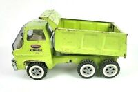 Tonka 1970s Vintage Dump Truck 13200 Lime Green Hydraulic Metal Pressed Steel
